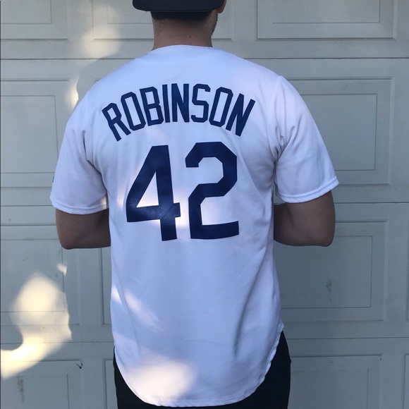 sports shoes ba5fc 91519 Jackie Robinson #42 Dodger's Jersey